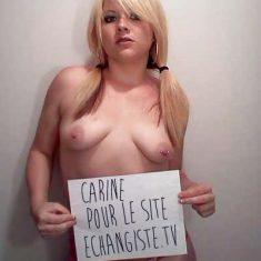 Carine, jeune blonde parisienne cherche complice bien membré
