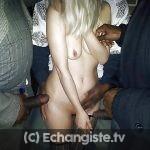 Gangbang a Troyes avec belle blonde qui aime les blacks